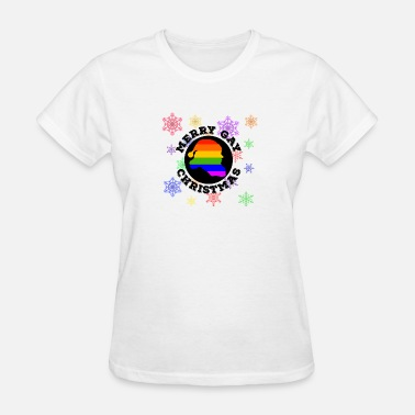 Gay Santa Merry Gay Christmas Santa LGBT Gay Pride - Women's T-Shirt