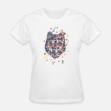 Abstract Wolf The Mountain Adult Unisex T-Shirt - Abstract Wolf - Women's T-Shirt