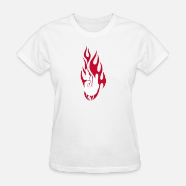Funny Rock Baby Hand Rock On Hand in Flames funny tshirt - Women's T-Shirt