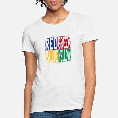 Yellow red green blue yellow - Women's T-Shirt
