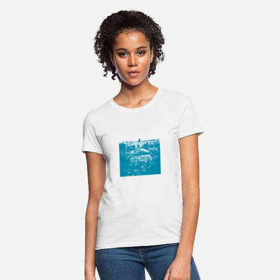 Gift Idea T-Shirts - City from above turquoise - Women's T-Shirt white