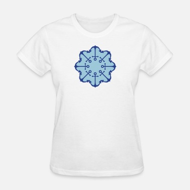 Bootboy round circle pattern anchor boat ship floating sea - Women's T-Shirt