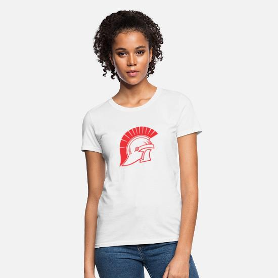 Trojan T-Shirts - Trojans helmet of war - Women's T-Shirt white