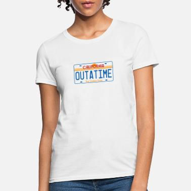 License Plate OUTATIME License Plate - Women's T-Shirt