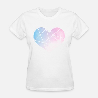 Heart Line Line Abstract Heart Shirt - Women's T-Shirt