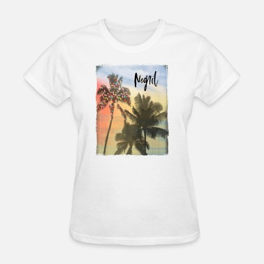 Negril Negril Jamaica Family Christmas Beach Palm Tree - Women's T-Shirt