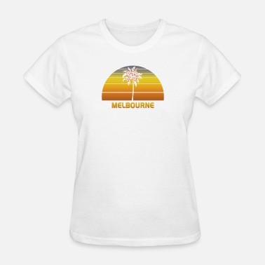 Melbourne Kids Melbourne Australia Palm Tree Christmas Lights - Women's T-Shirt