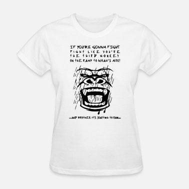 Third Street Fight Like You Are The Third Monkey Boxing MMA Cro - Women's T-Shirt