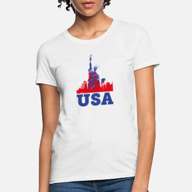 Shape USA Liberty Statue - Women's T-Shirt
