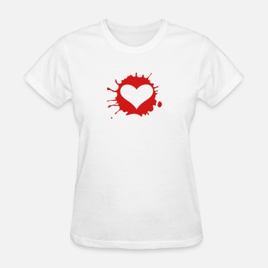 Unrequited-love Heart With Blood Splashes - Women's T-Shirt
