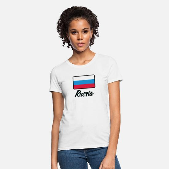 Saint Petersburg T-Shirts - National Flag Of Russia - Women's T-Shirt white