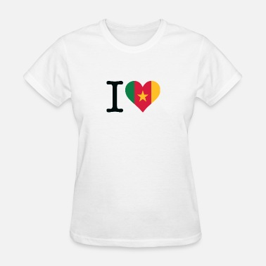 Republic Of Cameroon I Love Cameroon - Women's T-Shirt