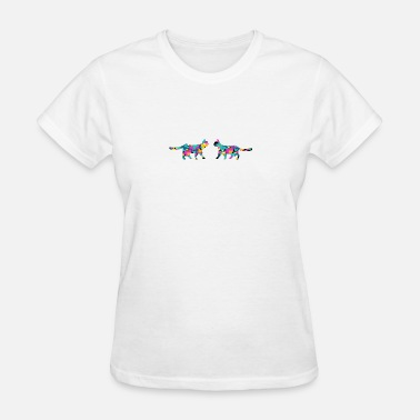 Colorful Cat Colored Cats - Women's T-Shirt