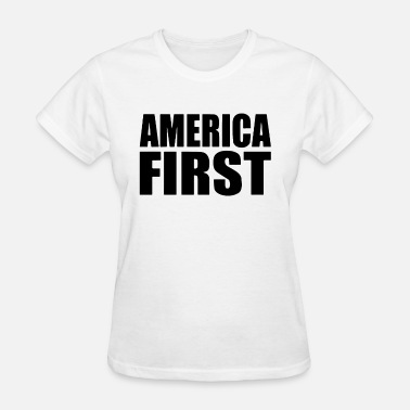 America First Donald Trump America First Donald Trump Political Tee Republica - Women's T-Shirt