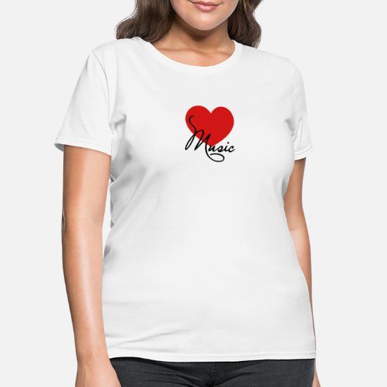 I Love Heart Classical Music Ladies T-Shirt