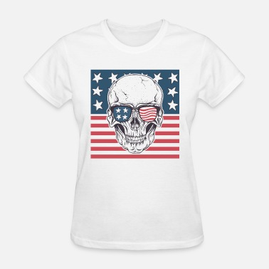 Flag Ghost American ghost - Women's T-Shirt