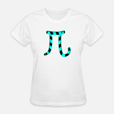 Curves Nerd Pi Christmas Candy Cane Gift - Women's T-Shirt