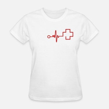 Cross-symbols-shapes Cross and Cardiogram - Women's T-Shirt