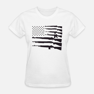 American Flag Guns Patriotic Usa Pride Gun Rights - Women's T-Shirt