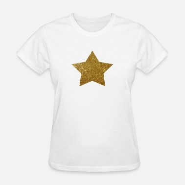Stars Glitter Gold Star Glitter Design - Women's T-Shirt