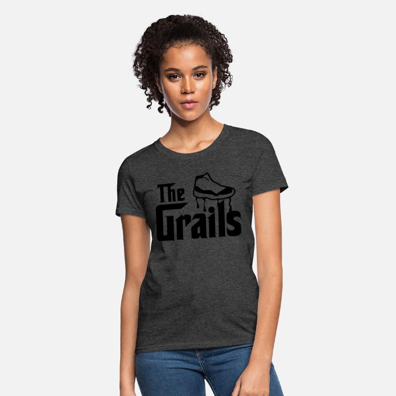 the best attitude 4f0ae b0d94 the grails jordan 11 graphics Women's T-Shirt - heather black