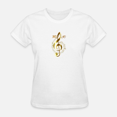 Music Quotes muSic - Women's T-Shirt