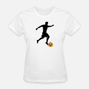 Soccer Striker Halloween Soccer Player Striker - Women's T-Shirt