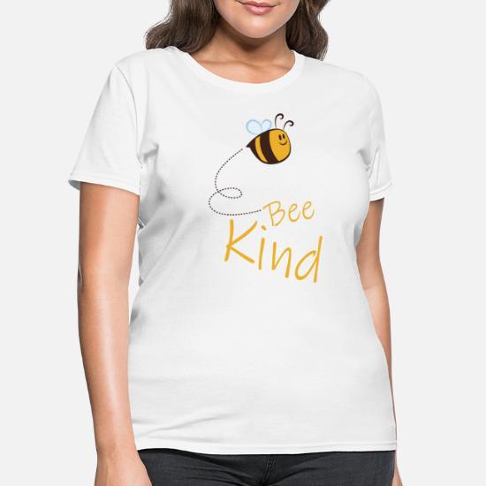 250128dfc Kind T-Shirts - Bee Kind - Women's T-Shirt white