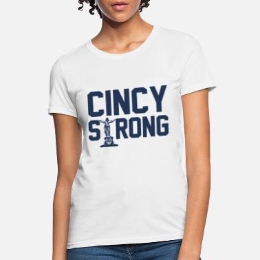df88ba94 cincy strong confident blue shirt men woman trucke - Women's T-