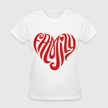 Family Heart Shaped - Women's T-Shirt