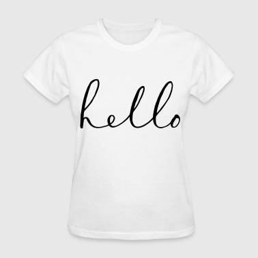 hello - Women's T-Shirt