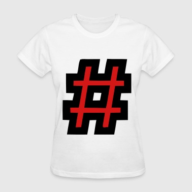 Hashtag Filled - Women's T-Shirt