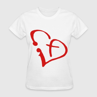 Heart Cross - Women's T-Shirt