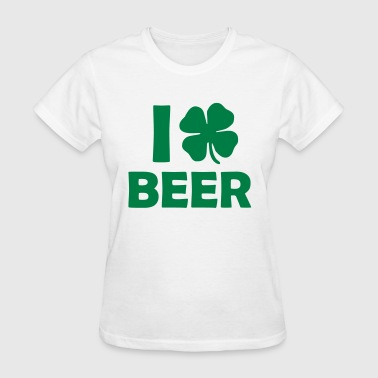 I Love (Shamrock) Beer - Women's T-Shirt