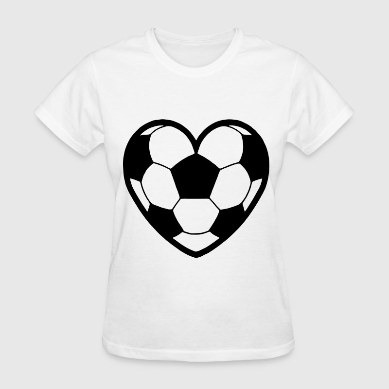 Soccer Ball Heart - Women's T-Shirt