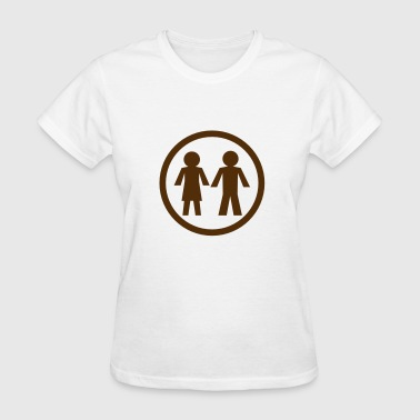 male and female toilet circle symbol - Women's T-Shirt