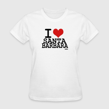 i love santa barbara  by wam - Women's T-Shirt