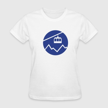 Cable car mountains - Women's T-Shirt