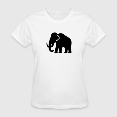Mammoth (Ice-Age Elephant) Silhouette - Women's T-Shirt