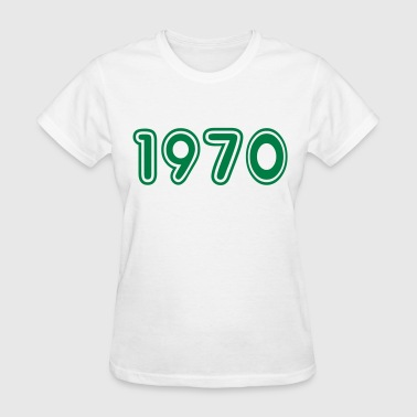 1970, Numbers, Year, Year Of Birth - Women's T-Shirt