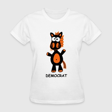 donkey democrat politics USA election vote funny - Women's T-Shirt