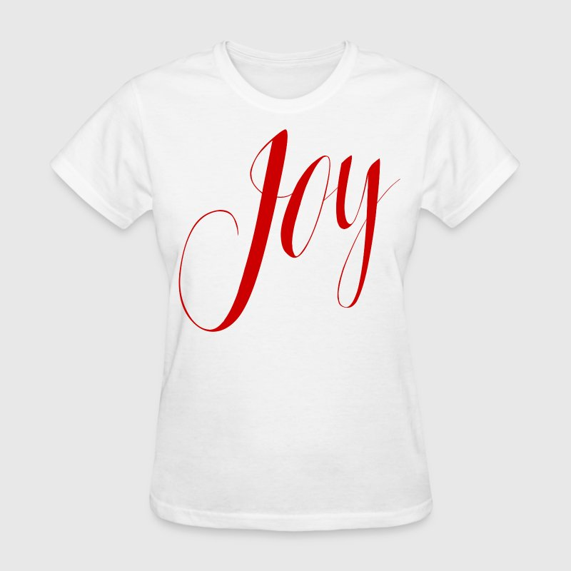 Joy Script Holiday Red V1 - Women's T-Shirt