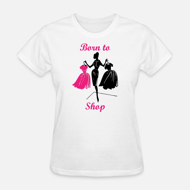 Shopping T-Shirts - Born to Shop - Love Shopping - Women's T-Shirt white