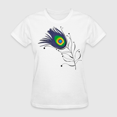 Peacock Feather Peacock - Women's T-Shirt