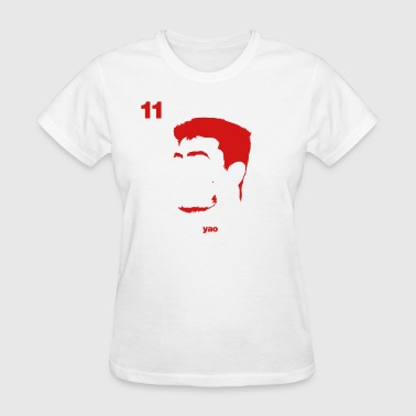 Yao Portrait with Name & Number - Women's T-Shirt