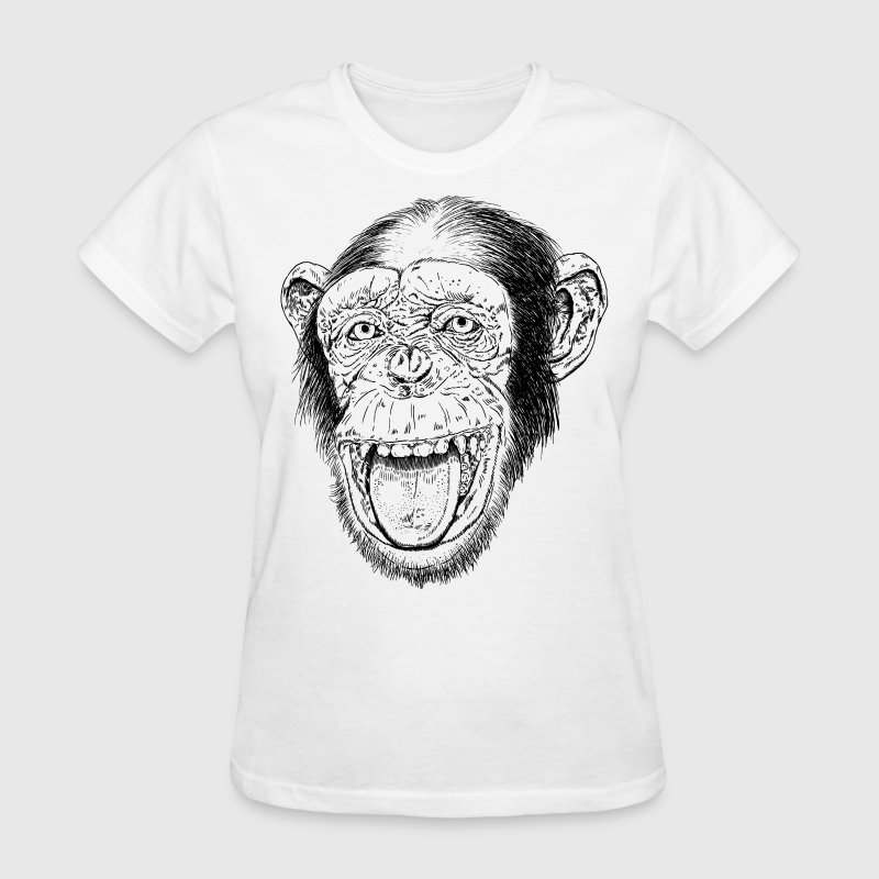 Happy Chimp HD Design - Women's T-Shirt