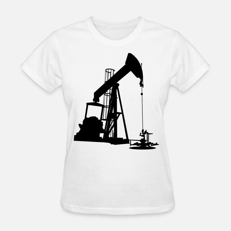 Oil T-Shirts - Oil Pump HD Design - Women's T-Shirt white