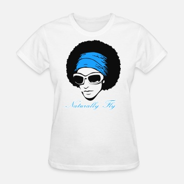 Naturally Fly Naturally Fly (Blue) - Women's T-Shirt