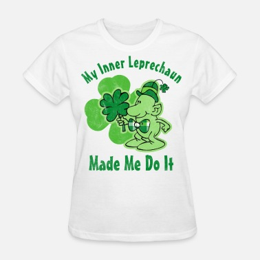 Plaid Plaid Inner Leprechaun - Women's T-Shirt