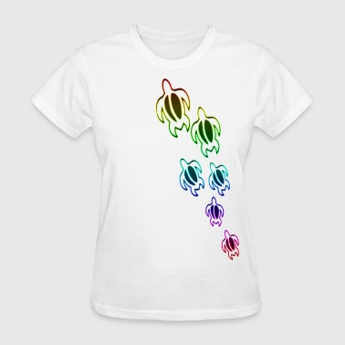 Hawaiian Aloha rainbow sea turtles - Women's T-Shirt
